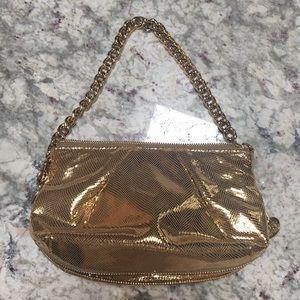 Gorgeous Henri Bendel Gold Bag ✨
